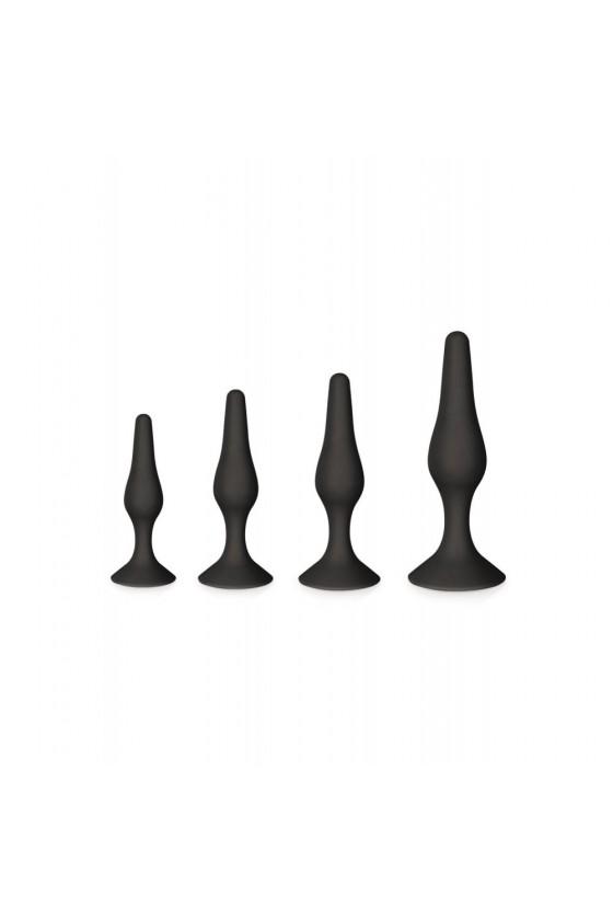 Coffret 4 plugs plaisir anal noirs
