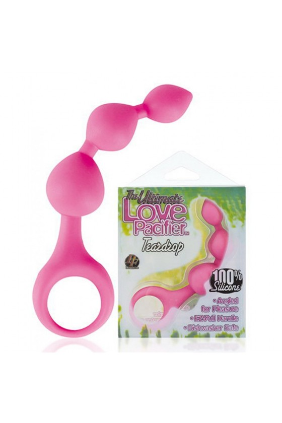 Stimulateur anal rose à boules