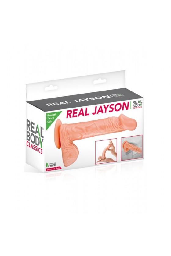 Gode réaliste veiné avec testicules et ventouse 21cm