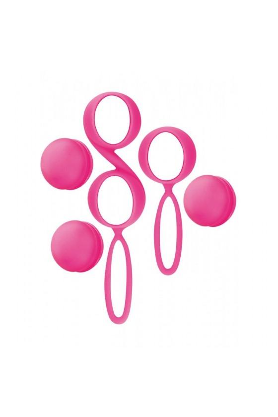 Set de boules de Geisha roses à billes amovibles