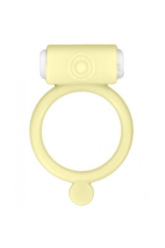Cockring phosphorescent jaune vibrant avec stimulation du clitoris