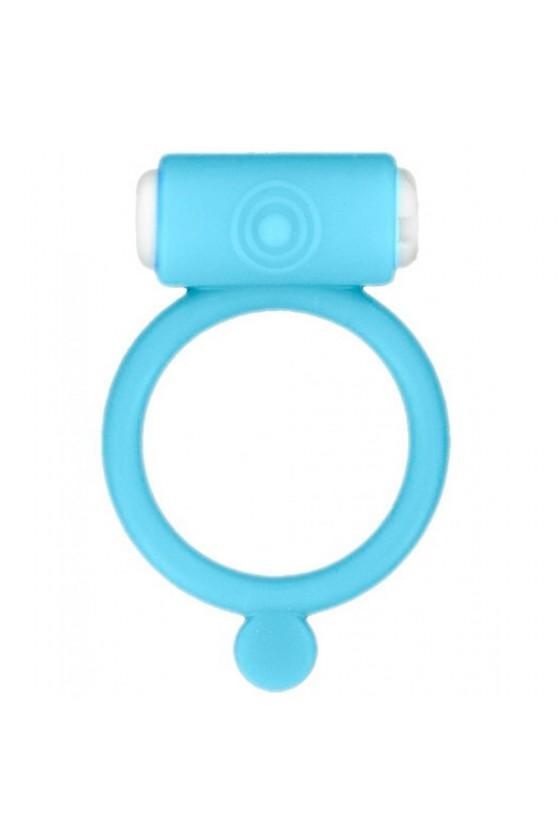 Cockring phosphorescent bleu vibrant avec stimulation du clitoris