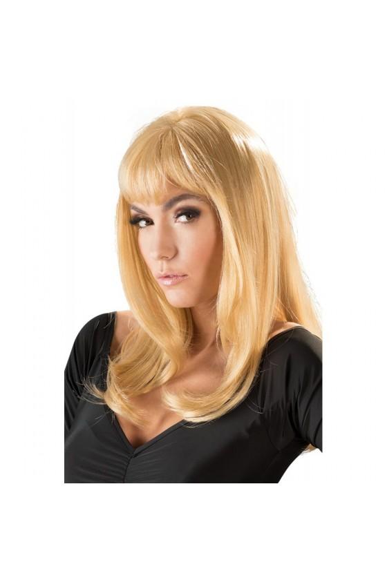 Perruque blonde mi-longue