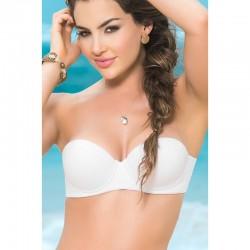 Haut de maillot de bain bandeau Style 6847 - Blanc