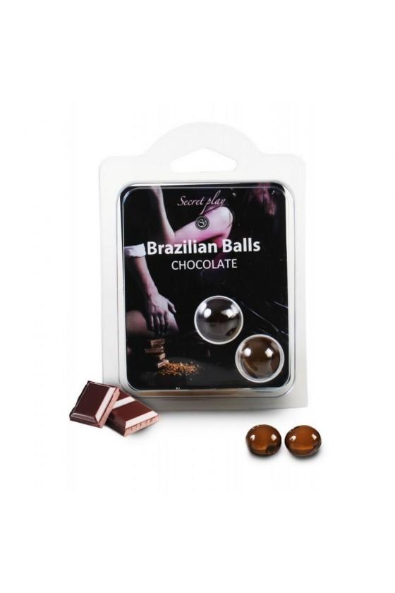 Boules de massage Brésiliennes chocolatées