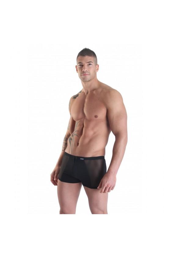 Boxer noir avec double zip Wiz