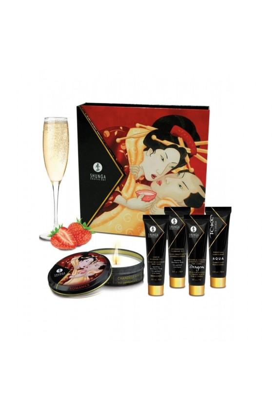 Coffret de Geisha vin pétillant à la fraise