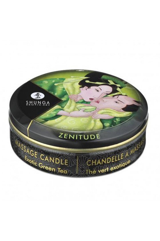 Mini bougie de massage thé vert 30ml