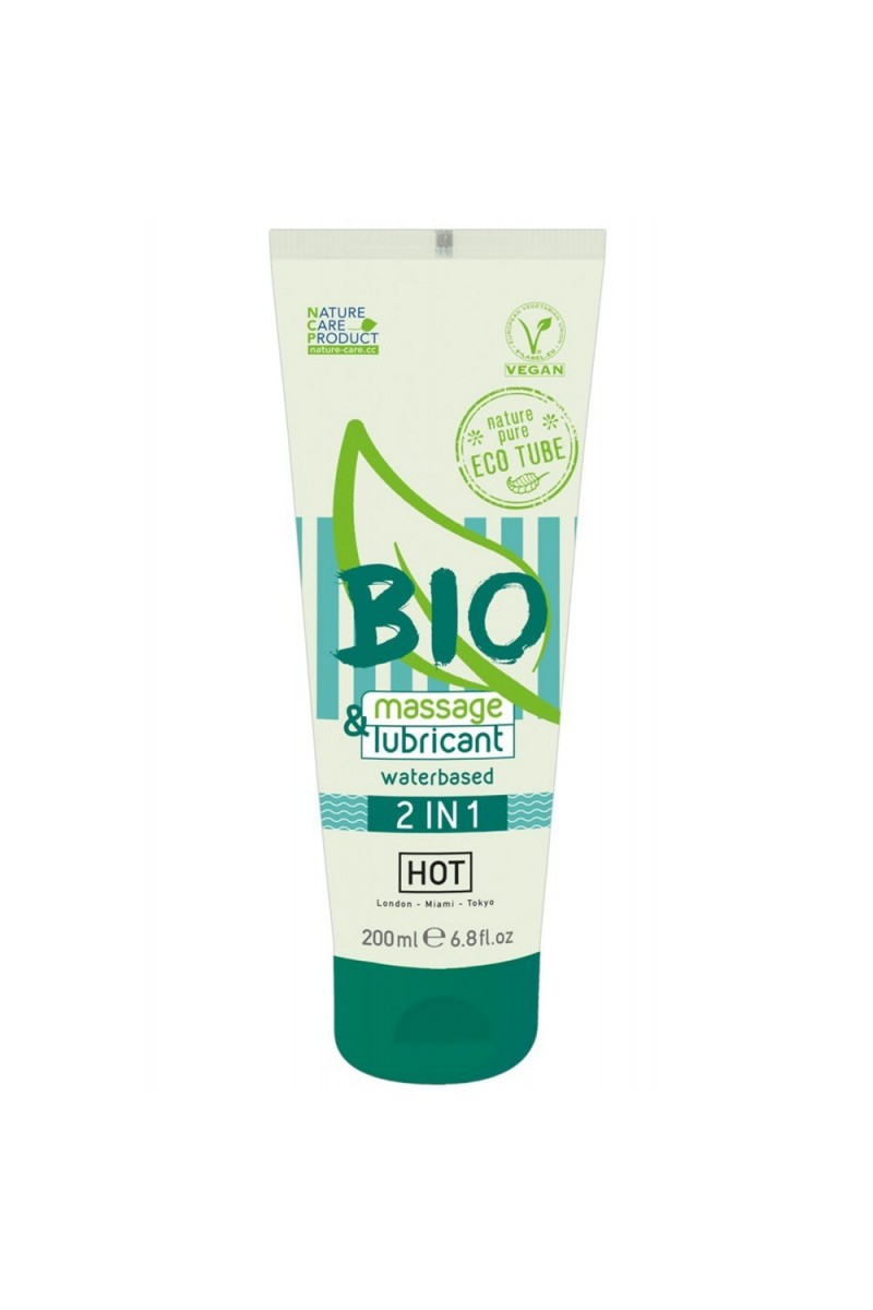 Gel de massage lubrifiant 100% Bio végétalien 200ml - FS611190