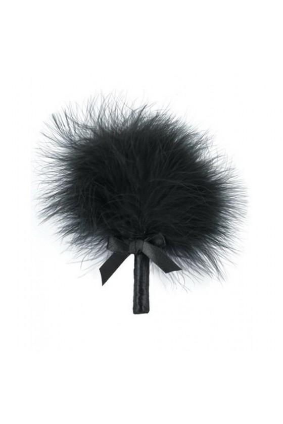 Plumeau noir avec noeud satiné - 100300BLK