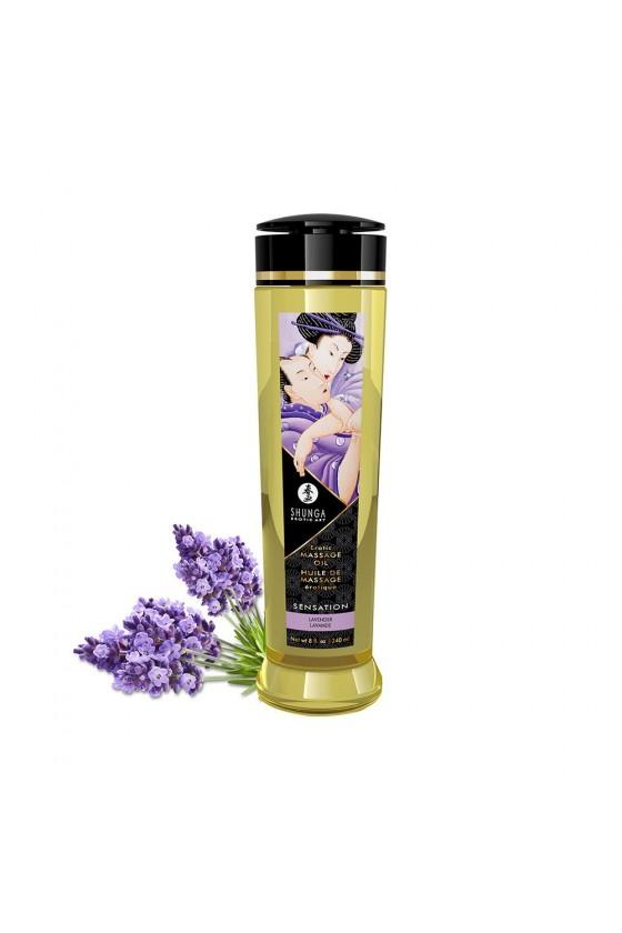 Huile de massage Sensation lavande aphrodisiaque 240ml - CC1206
