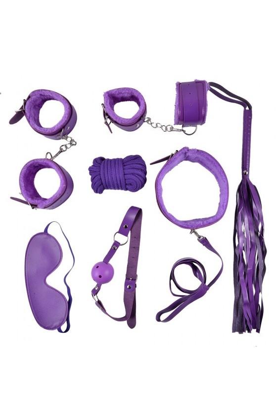 Ensemble Bondage violet - 10 pièces - SOM-013PUR