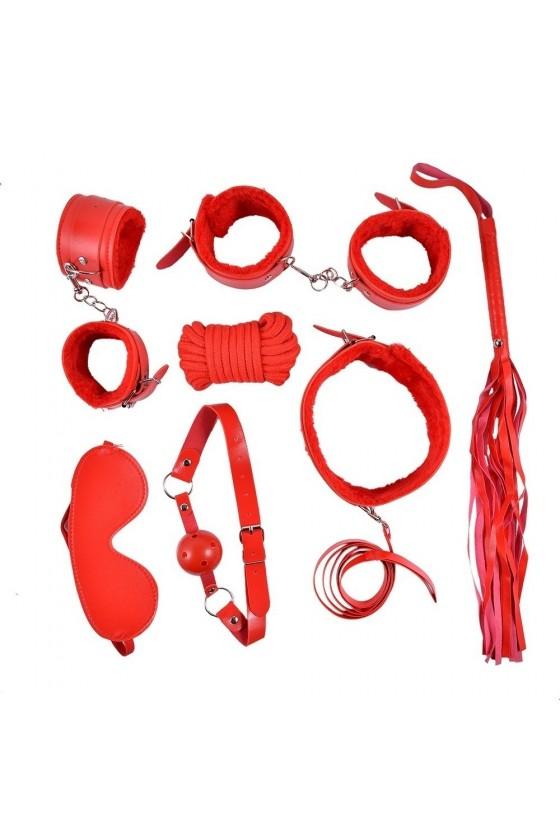 Ensemble Bondage rouge - 10 pièces - SOM-013RED