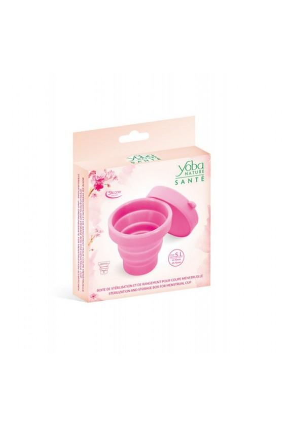 Boîte de stérilisation Rose pliable Yoba Nature - CC526005