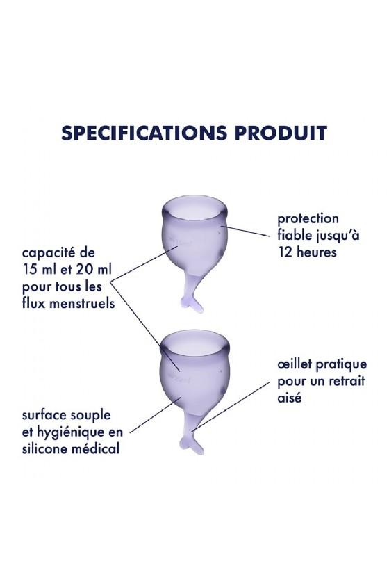 2 coupes menstruelles Satisfyer Lilas FEEL SECURE - CC597238