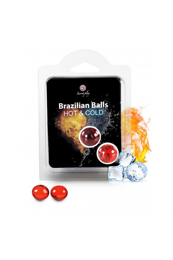 Boules de massage Brésiliennes effet chaud froid