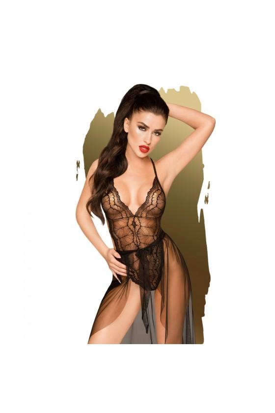 Body et jupe en voile Noir Best foreplay - PH0097BLK