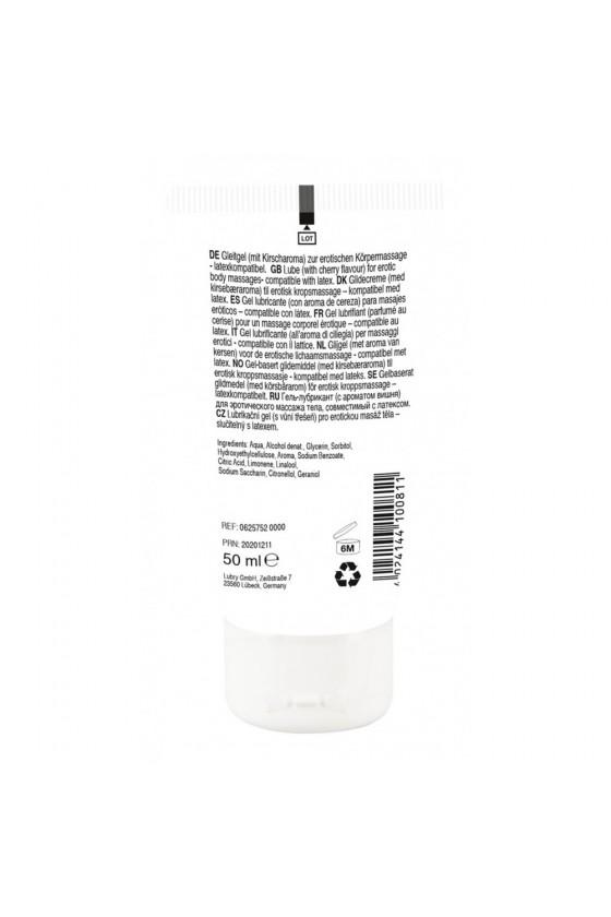 Lubrifiant et gel de massage végétalien comestible goût cerise 50ml - R625752