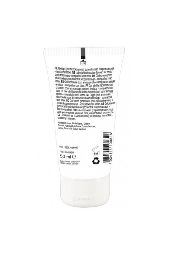 Lubrifiant et gel de massage végétalien comestible goût chocolat blanc 50ml - R625760