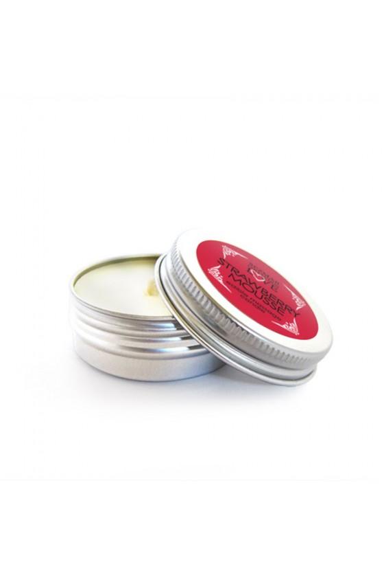Mini Bougie de massage mousse de fraise 30ml - SEZ072