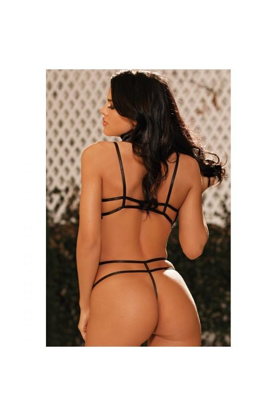 Body string dentelle extensible avec laisse