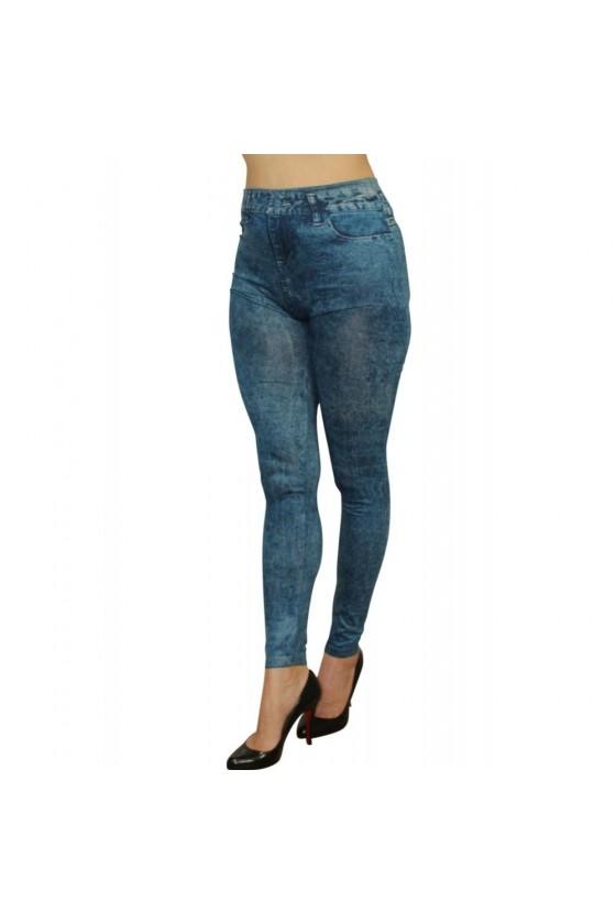 Legging bleu effet jean délavé