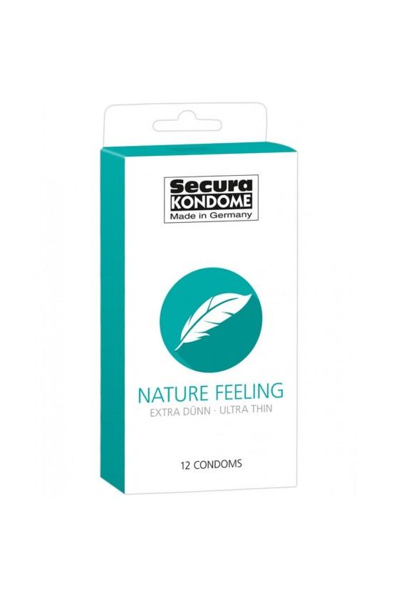 Préservatifs extras fins lubrifiés naturels avec réservoir Boîte de 12
