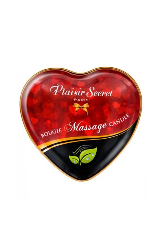 Mini bougie de massage naturelle boîte coeur 35ml